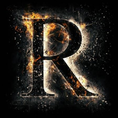 Fire Letter R Alphabet Wallpaper R Wallpaper Stylish Alphabets
