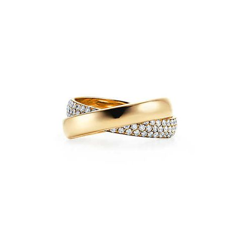 77db459a2 Paloma's Melody two-band ring in 18k gold with diamonds.   Tiffany & Co.