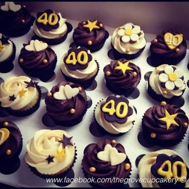 Image Result For 40th Birthday Cupcake Ideas 40th Birthday