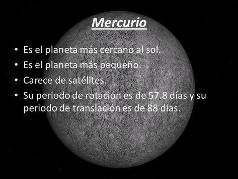 Pin En Planeta Mercurio Para Ninos
