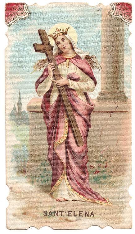 St  Helen Antique French Holy Prayer Card, Catholic Gift