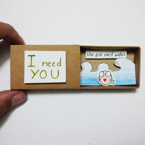 Love card friend card  Card Matchbox Gretting Card Gift by JtranJ