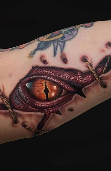 Dragon Eye Tattoo In 2020 Dragon Tattoos For Men Eye Tattoo Body Art Tattoos