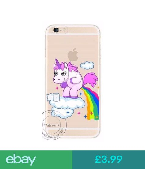 Funny Unicorn Rainbow Hard Case Cover