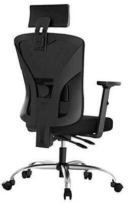 Hbada Ergonomic Office Desk Chair With Adjustable Armrest Lumbar Black Affilink In 2020 Office Chair Ergonomic Office Office Chair Diy