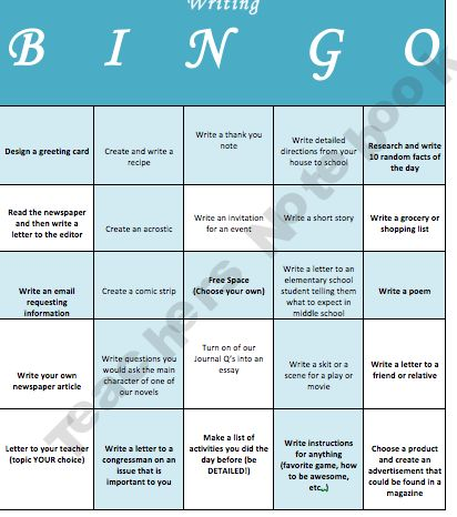Reading Bingo For Differentiated InstructionEarly Finishers