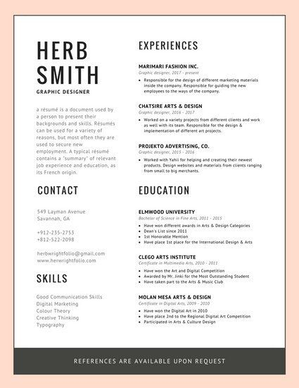 Pink Border Modern Resume Templates By Canva Modern Resume Modern Resume Template Resume