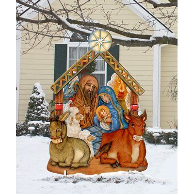 The Holiday Aisle Nativity Lawn Art Outdoor Nativity Outdoor Christmas Outdoor Holiday Decor
