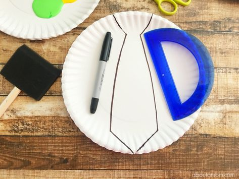 Fun Paper Plate Tie Craft for Father's Day - About a Mom