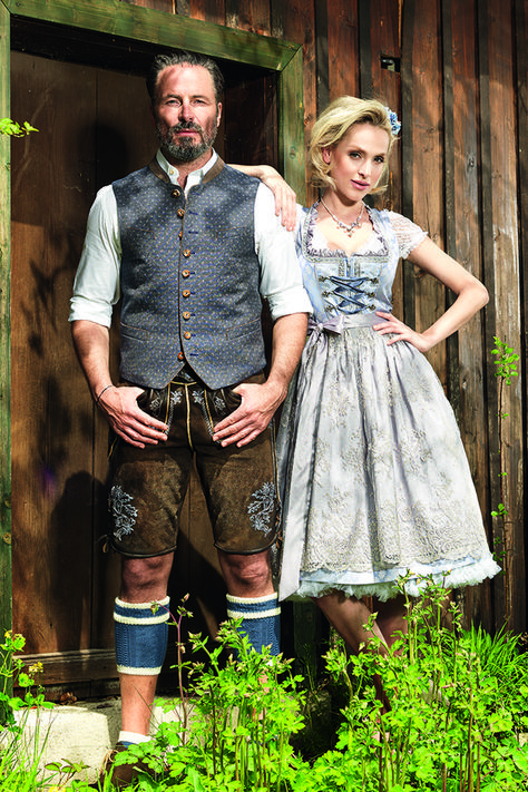 Angermaier costumes pairs. #Dirndl, #Leather pants, vests and traditional costumes  #angermaier #costumes #dirndl #leather #pairs #pants #vests