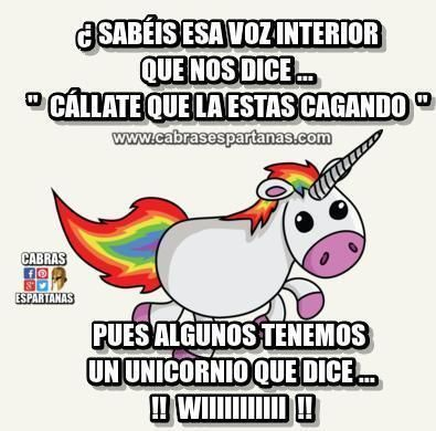 Unicornio que hace wiiiiiiii