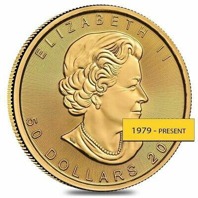 1 Oz Canadian Gold Maple Leaf 50 Coin Random Year Ebay Gold Bullion Coins Gold Bullion Bullion Coins