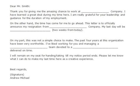 This funny resignation letter is negative and critical of the ...