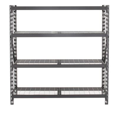 Husky Husky Black Heavy Duty 4 Tier Steel Garage Storage Shelving