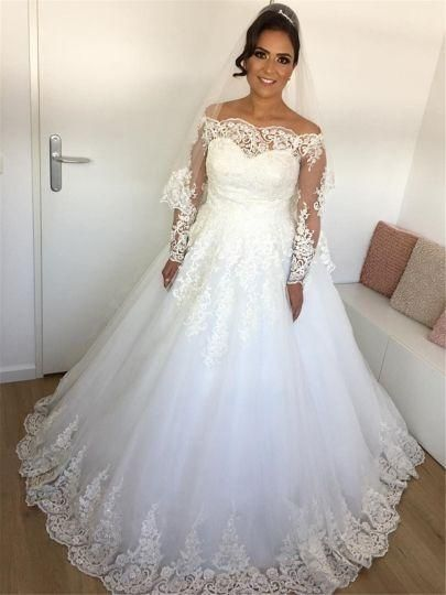 Wedding Dresses Discount Bridal Gowns Formal Clothes For Teens Places Q In 2020 Long Sleeve Ball Gown Wedding Dress Ball Gown Wedding Dress Wedding Dress Long Sleeve