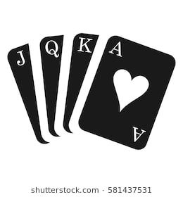 Hanging Card Pack Or Deck Card Suit Icon Vector Playing Cards
