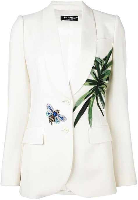 Dolce & Gabbana Banana Leaf Patch Blazer {worn by Tamron Hall ♥ The NBC Nightly News}