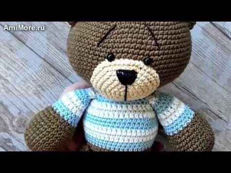 Амигуруми: схема Мишка Тёма. Игрушки вязанные крючком. Free crochet patterns. Free crochet patterns. - YouTube