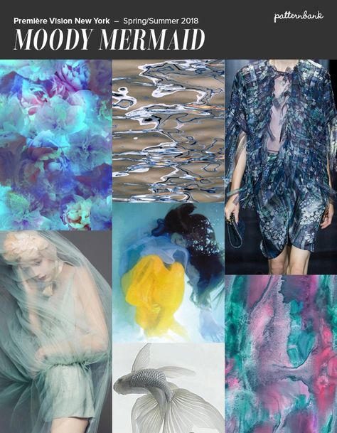 Première Vision New York - S/S 2018 Print & Pattern Trend Round Up- Iridescent Effects / Scales / Tentacles / Dreamy / Watery Florals / Palest Aquas / Icy Pinks / Powdery Lilacs | Patternbank