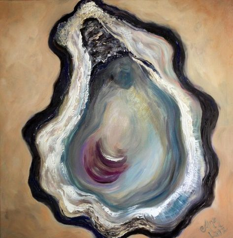 Oyster Painting - Cloister by Ann Lutz