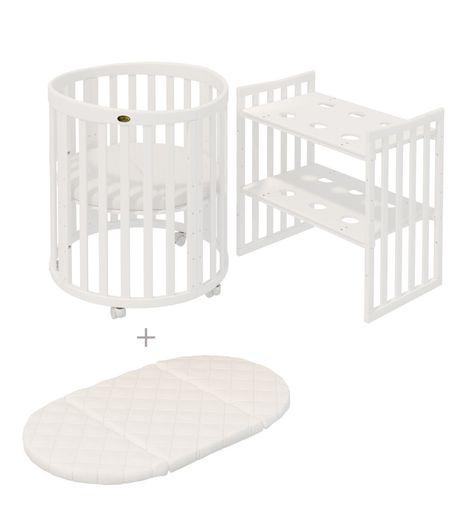 Comfortbaby Babybett Kinderbett Smartgrow 7in1 Holzfarbe Weiss