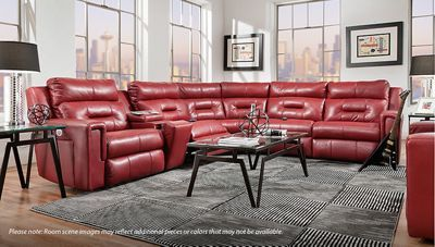 Southern Motion Excel 6 Piece Power Reclining Sectional With Power Tilt Headrest Jordan S Furniture Reclining Sectional Sectional Furniture