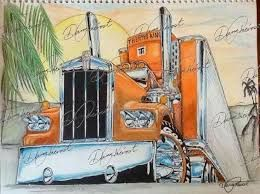 Image Result For Painting Of 18 Wheeler Truck Art Semi Trucks