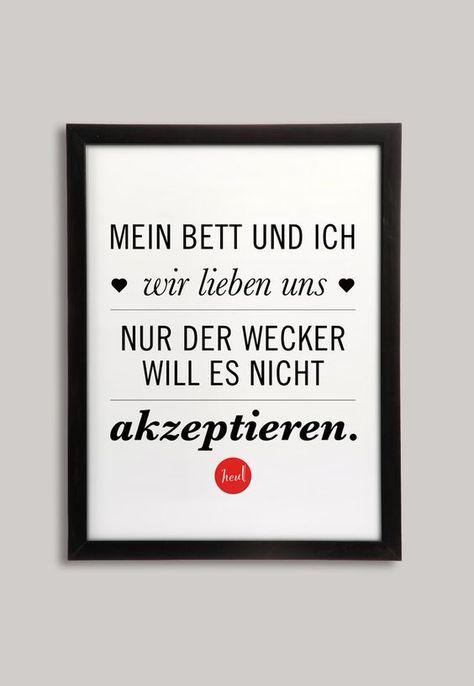 Poster, Kunstdruck mit Spruch für Langschläfer / art print with quote for late riser made by BarbsHome via DaWanda.com