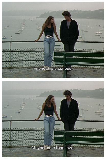 A Summer's Tale (1996, Éric Rohmer) o ho ho but in friendship also lies love, philia; brotherly love.