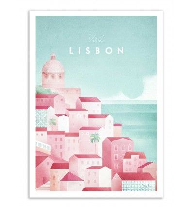 Henry Rivers Wall Editions Art-Poster Visit Lisbon