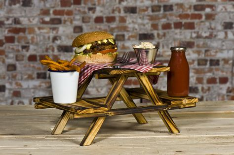 Rustic Wooden Picnic Table