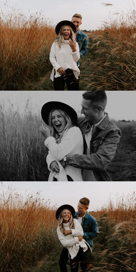 Fall Engagement Shoots, Engagement Photo Outfits, Engagement Photo Inspiration, Engagement Couple, Engagement Session, Fall Engagement Photography, Autumn Engagement Photos, Fall Photo Shoot Outfits, Fall Family Photo Outfits