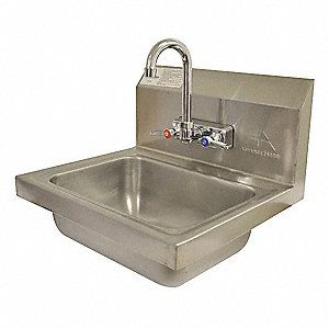 Hand Sinks And Hand Wash Stations Sinks And Wash Fountains Grainger Industrial Supply Sink Faucet Stainless Steel