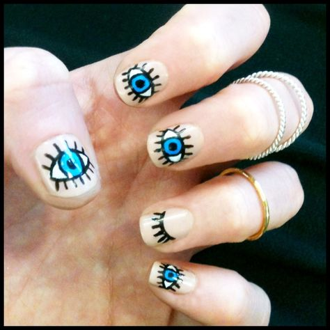 NEW Nail Trend: Eye Nail Art!! | xoJahtna | All things Nails | Pinterest |  Nail trends and Weird nails - NEW Nail Trend: Eye Nail Art!! XoJahtna All Things Nails