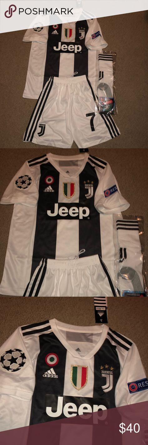 9fe9e53bd 18 19 Ronaldo  7 Kids Kit Champions League Edition 18 19 Juventus Home
