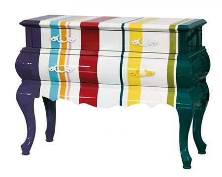 Cassettiera Trip Trumeau By Seletti.Trip Stripes 2 Drawer Chest By Seletti In 2020 Painting Old