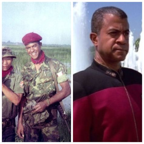 Tucker Smallwood-Army Airborne Infantry-Vietnam-commanded a mobile advisory team, wounded in action. (Actor)