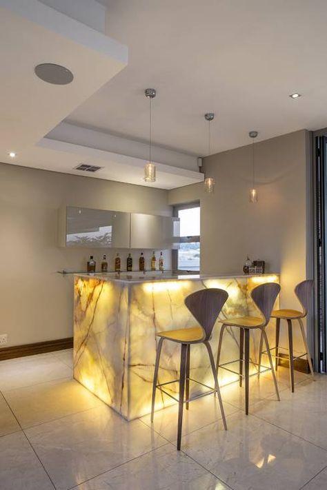 Interessante Ideen für Küchenrückwand mit Fliesen Lichtspiele - glasrückwand küche beleuchtet