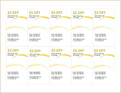 Coupon template for MS Word DOWNLOAD at    worddoxorg how-to - donation pledge form template