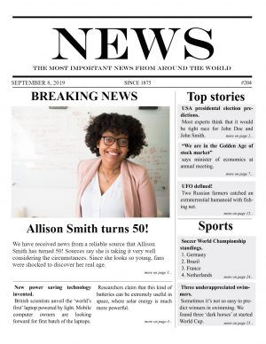create a newspaper article online free