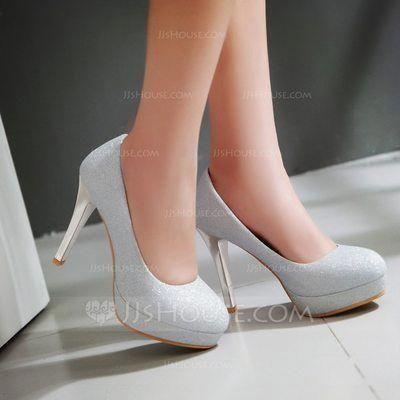 sapatos para prom prateados 2018