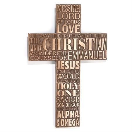 Wall Art Cross The Names Of Jesus Names Of Jesus Son Of God Light Of The World