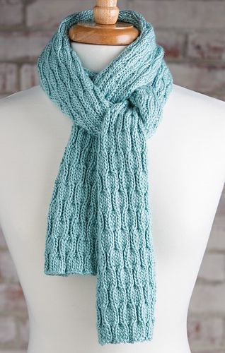 Wavy Rib Scarf made with the Knook