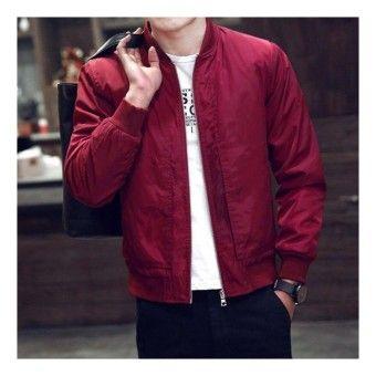 Good Shop M 4xl Korean Style Men Bomber Jacket Baseball Uniform Intlitem Is Really Good M 4xl Korean Sty Mens Jackets Casual Bomber Jacket Men Mens Jackets