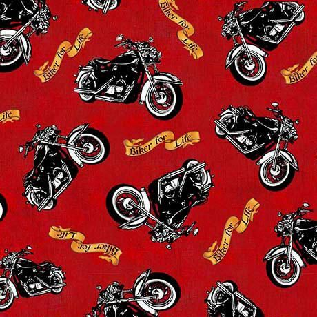 1649 26018 R Biker For Life Quilt Fabric Motorcycle Toss Harley Davidson Fabric Quilt Fabric Fabric