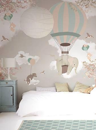 14 HABITACIONES INFANTILES EN ROSA | Hand Wallpaper, Pink Kids And Wallpaper  Murals