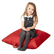 Groovy Ebay Sales Toddler Red Quilted Bean Bag Water Resistant Creativecarmelina Interior Chair Design Creativecarmelinacom