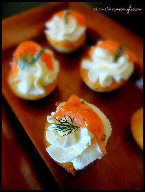 Financiers au citron vert et saumon fumé   En cuisine... avec Myl !