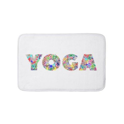 Yoga Bath Mat Yoga Health Design Namaste Mind Body Spirit Bath