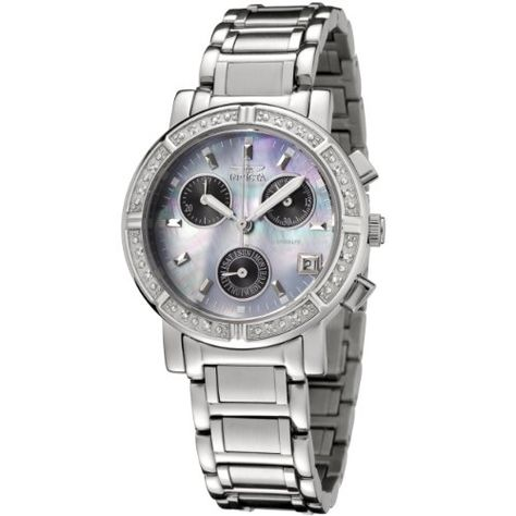 , Invicta Women's 0610 Wildflower Collection Diamond Chronograph Watch - online watches for men, watches for men online, mens chronograph watches *ad